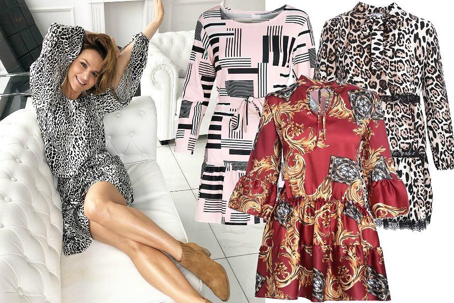 Wzorzyste sukienki do 150 zł