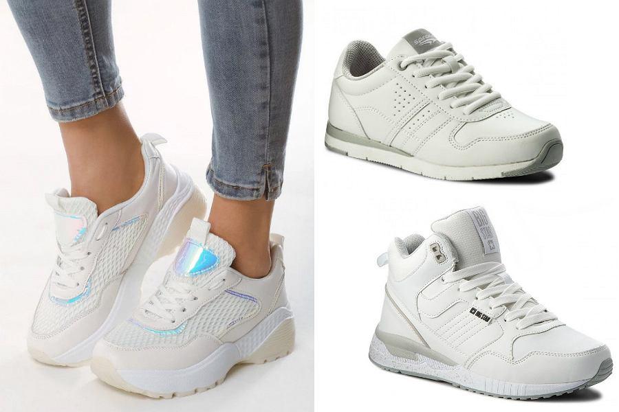Białe sneakersy do 100 złotych