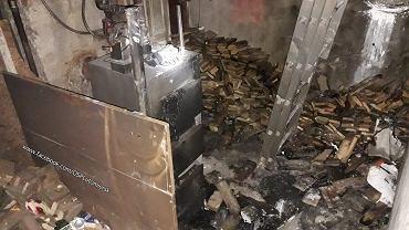Pożar w miejscowości Lutomiersk w woj. łódzkim. 12-latek uratował z pożaru swoją mamę.