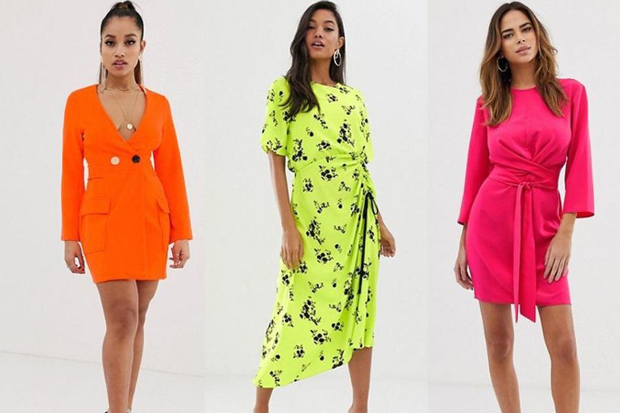 neonowe sukienki