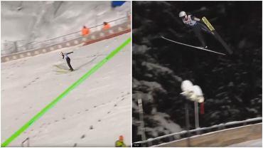 Świetny skok Andrzeja Stękały na drugim treningu