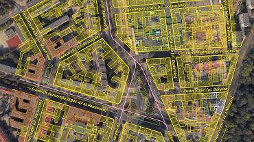 Tak zmienił się przebieg ulic i zabudowa w rejonie placu Rodła