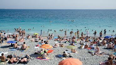 Plaża w Saint-Tropez we Francji