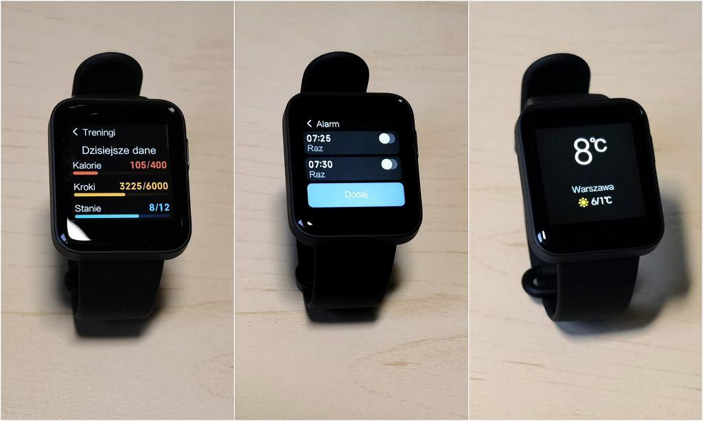 Xiaomi Mi Watch Lite - przykładowe tarcze