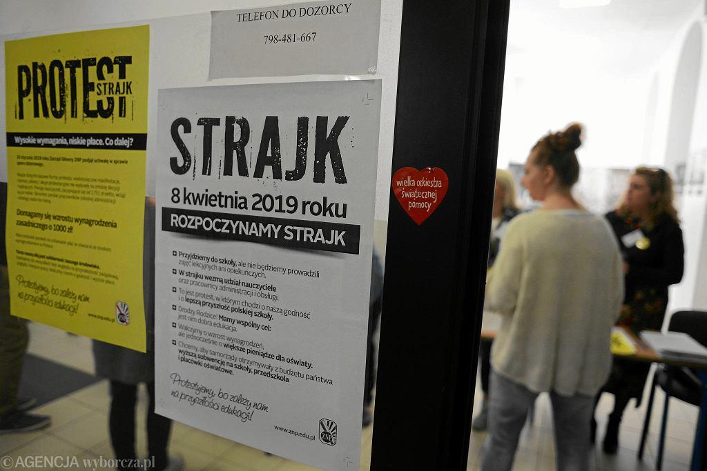 Strajk nauczycieli w Warszawie