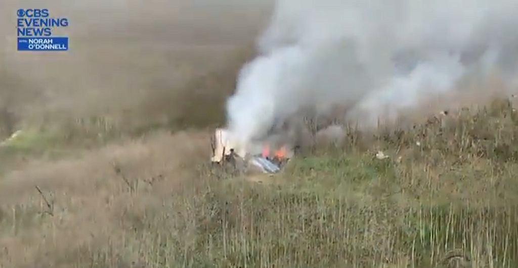 Amerykańska telewizja opublikowała nagranie z miejsca katastrofy śmigłowca Kobego Bryanta