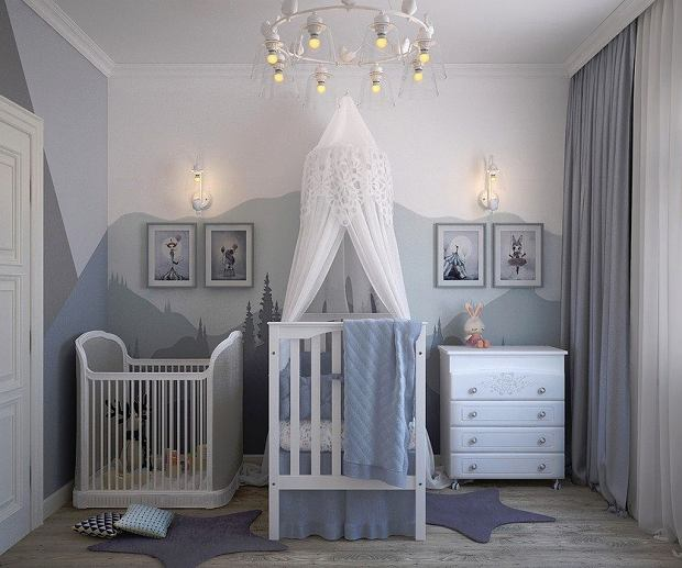 Kolory farb do pokoju dzieci - czy wszechobecne szarości na ścianach przemalujemy w 2020 na classic blue?