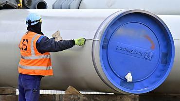 Prace przy budowie gazociągu Nord Stream 2 w Lubminie w północno-wschodnich Niemczech, 26.03.2019