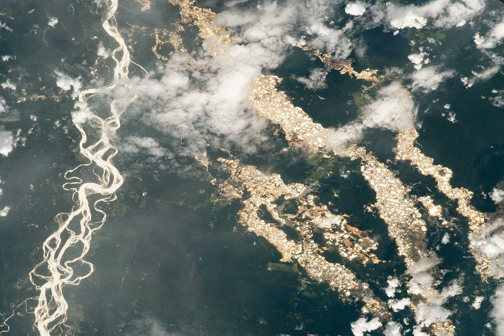 Amazonka widziana z Międzynarodowej Stacji Kosmicznej