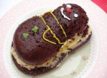 Tort czekoladowy z masą z kiwi i mango - ugotuj