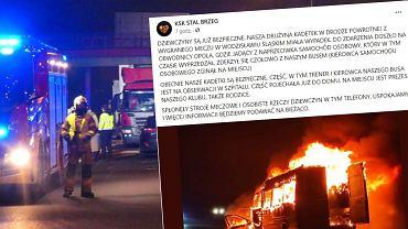 Opolskie. Wypadek z udziałem busa KSK Stali Brzeg
