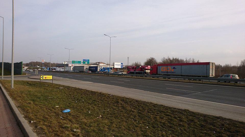 Drogowa Trasa Średnicowa, korek na granicy Zabrza i Rudy Śląskiej