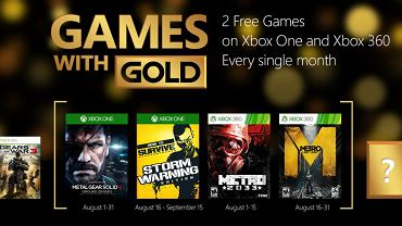 Games with Gold - sierpień