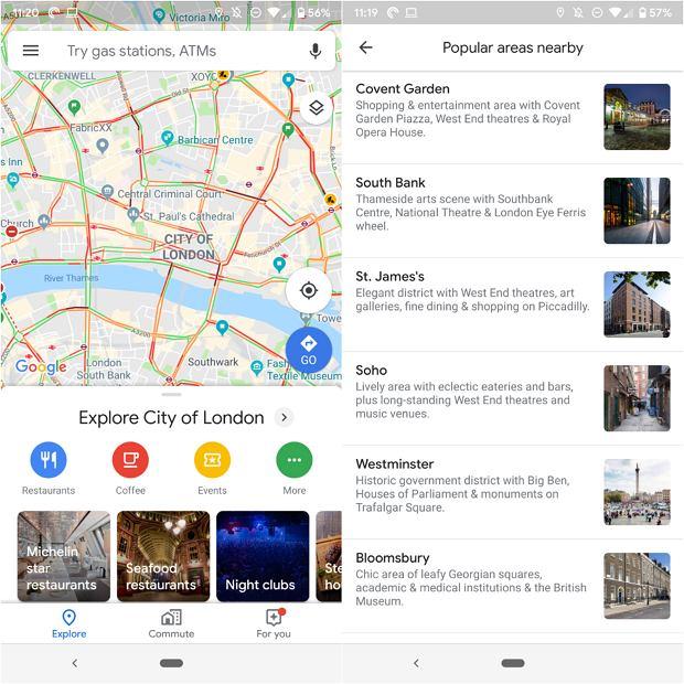 Google Maps umożliwią eksplorowanie miasta