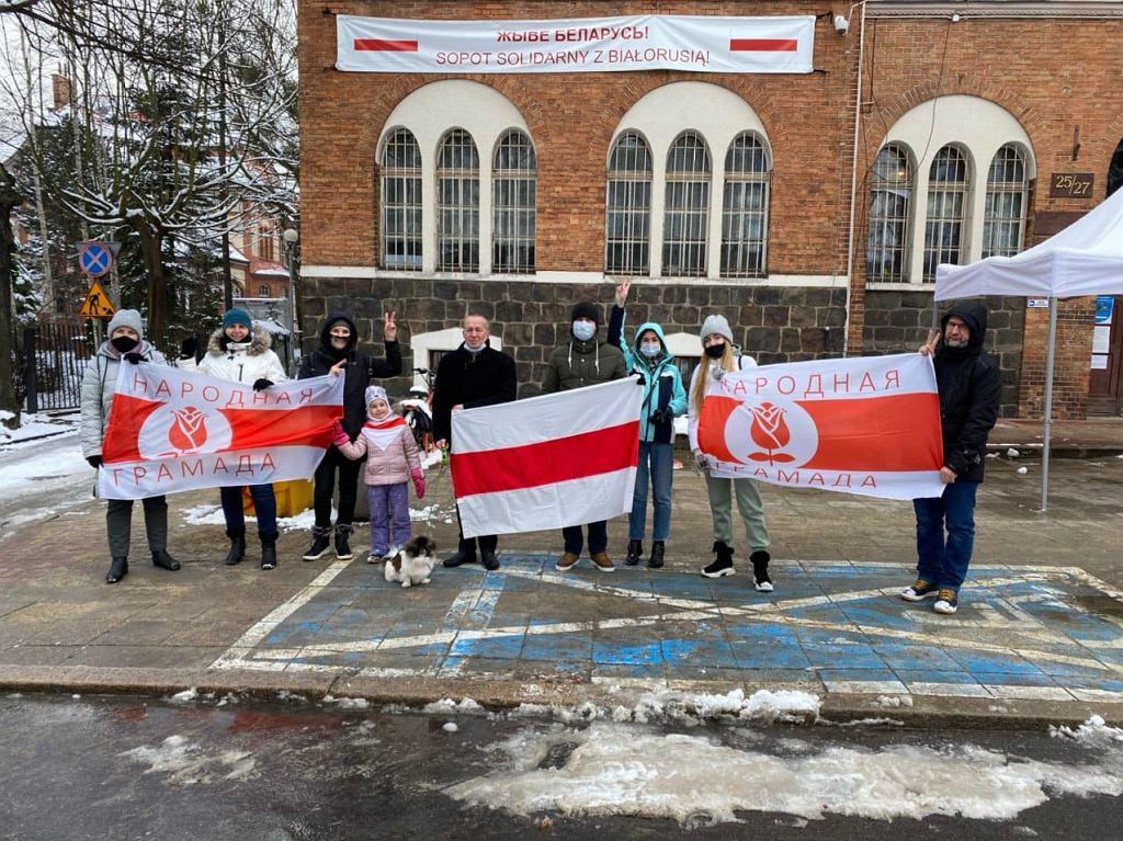 Uchodźcy polityczni z Białorusi w Sopocie