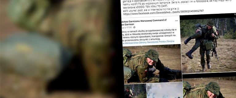 Polscy żołnierze w hełmach z Photoshopa. Ukryty został sprzęt z lat 70.