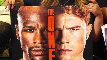 Plakat reklamujący walkę Mayweather - Alvarez