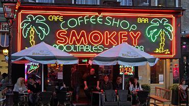 Smokey coffee shop w Amsterdamie