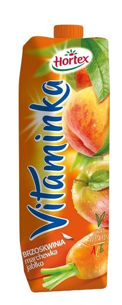 Hortex Vitaminka Brzoskwinia marchewka jabłko - Sok 1l