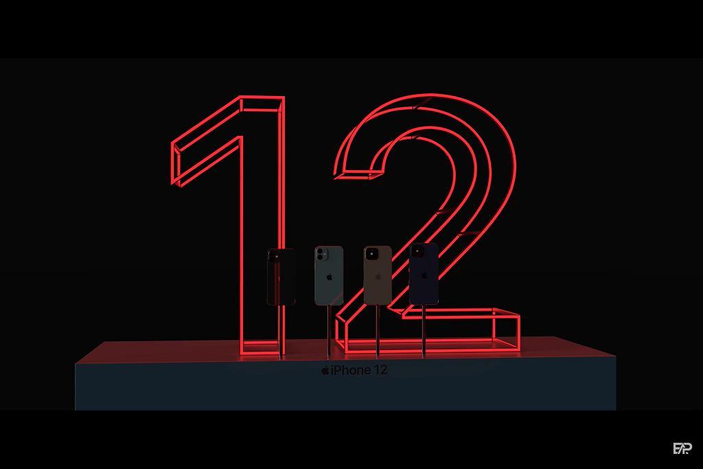 iPhone 12 na wizualizacjach