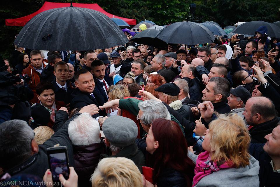 Wizyta Prezydenta Dudy i wicepremier Beaty Szydło w Myślenicach