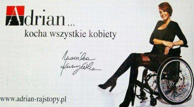 Monika Kuszyńska w reklamie rasjtop Adrian