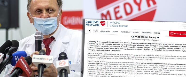 """CM w Rzeszowie rozważa zawieszenie szczepień. """"Nagonka i insynuacje"""""""