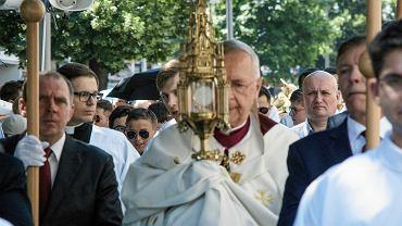 Procesja Bożego Ciała w Poznaniu w 2019 r., abp Stanisław Gądecki