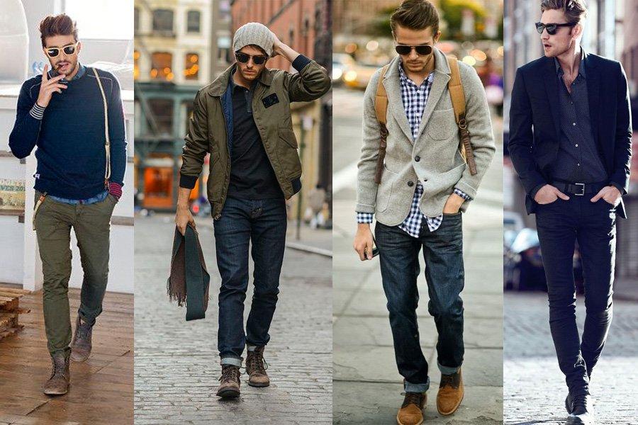 kurtki wiosenne stylizacje męskie