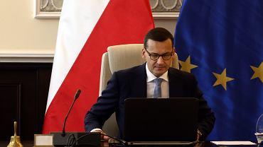 Premier Mateusz Morawiecki podczas posiedzenia rządu, 11 września 2018 r.