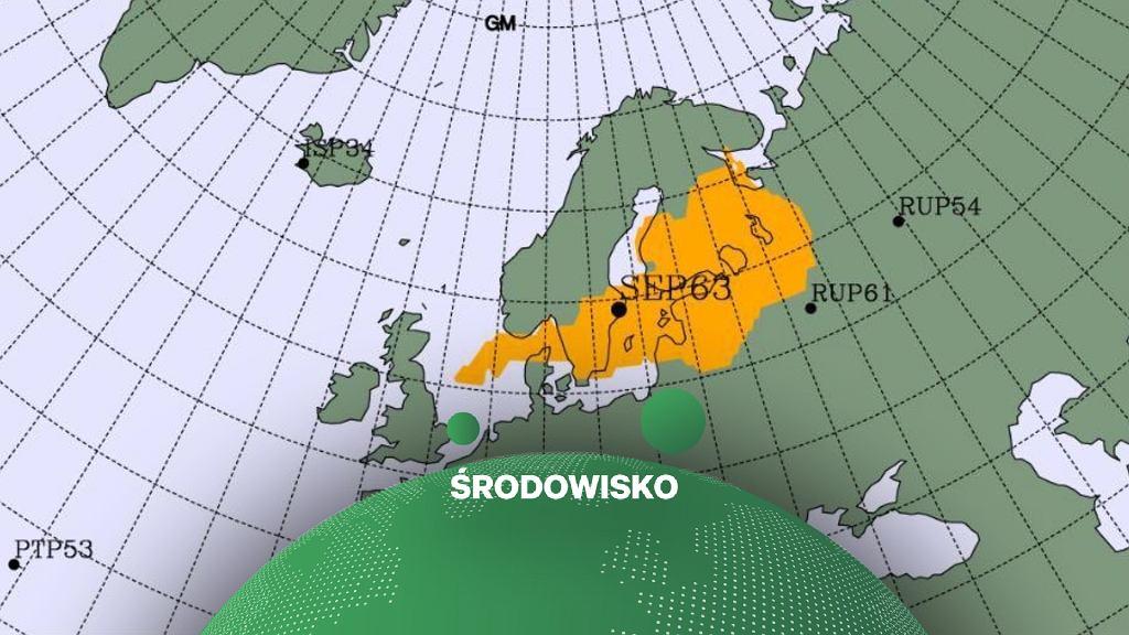 Mapa pokazująca zasięg promieniowania na 72 godziny przed wykryciem