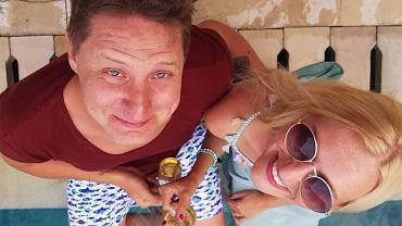 Antek Smykiewicz z żoną