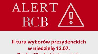 Alert Rządowego Centrum Bezpieczeństwa z 11.07.2020