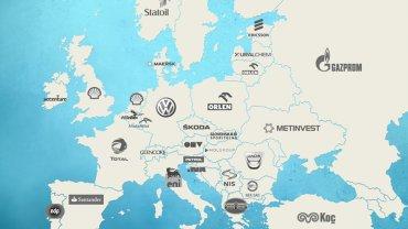 Mapa największych firm w Europie (Gazeta.pl)