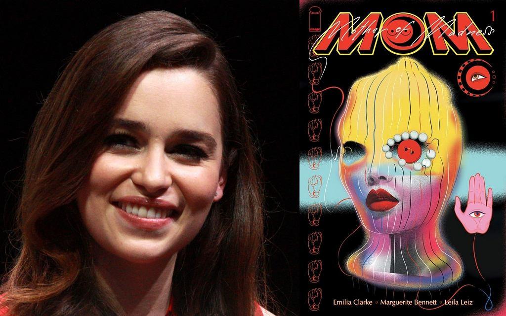 Emilia Clarke i okładka komiksu