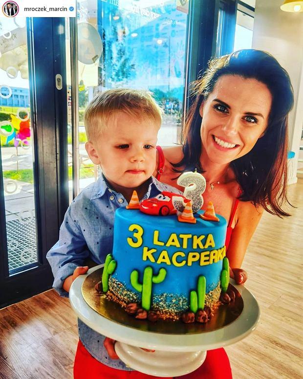 Syn i żona Marcina Mroczka