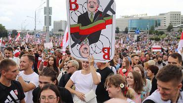 Protest w Mińsku na Białorusi, 06.09.2020