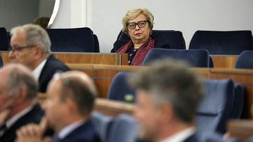 Pierwsza Prezes Sądu Najwyższego Małgorzata Gersdorf w Senacie, 23 listopada 2018.