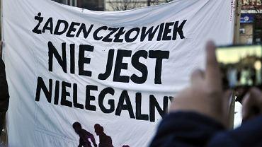 Protest w Wałbrzychu przeciwko rasizmowi