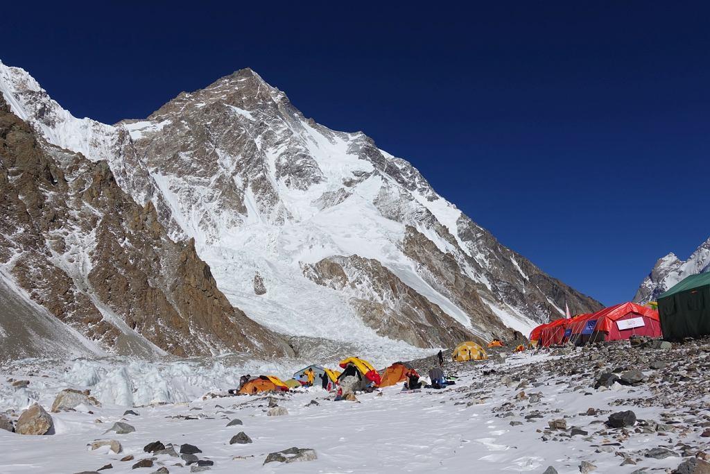 Widok bazy pod K2
