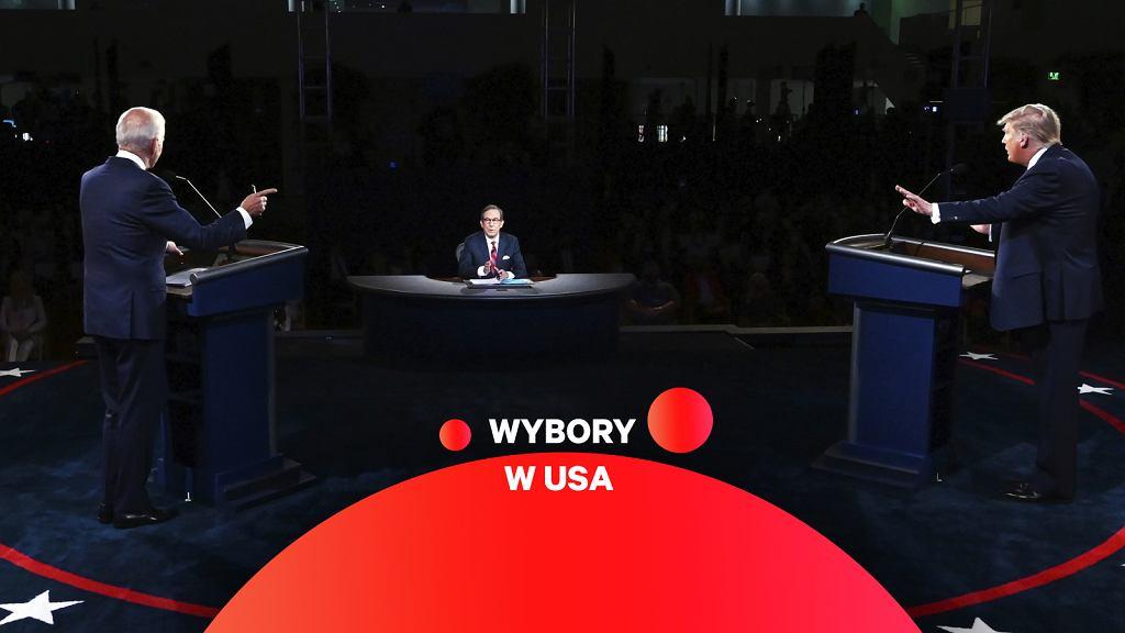 USA. Debata Biden - Trump.