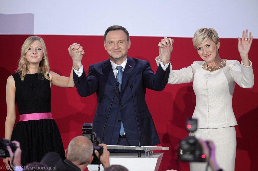 Andrzej Duda z rodziną
