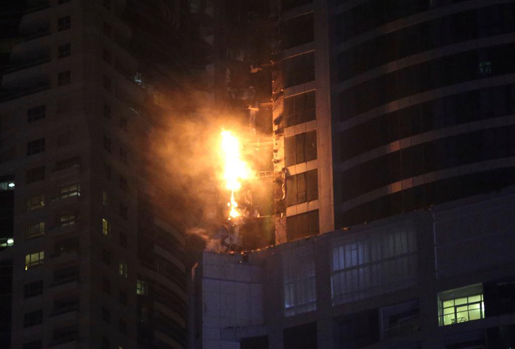 Pożar w Dubaju