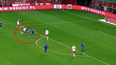 Znakomite podanie Karola Linettego w meczu z Bośnią i Hercegowiną