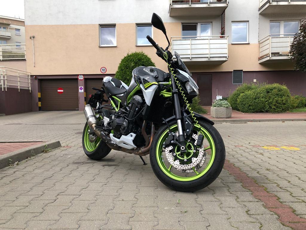 Zabezpieczenie motocykla przed kradzieżą, Kawasaki Z900
