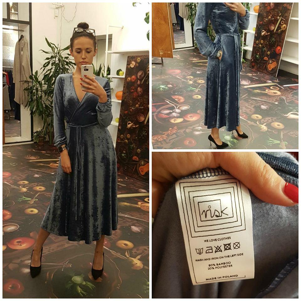 sukienka niebieska Risk Made in Warsaw