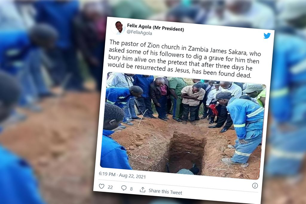 Zambia. 22-latek miał zmartwychwstać jak Jezus. Zginął zakopany żywcem