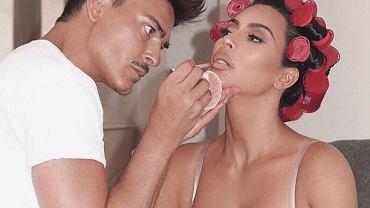 Makijaż Kim Kardashian.