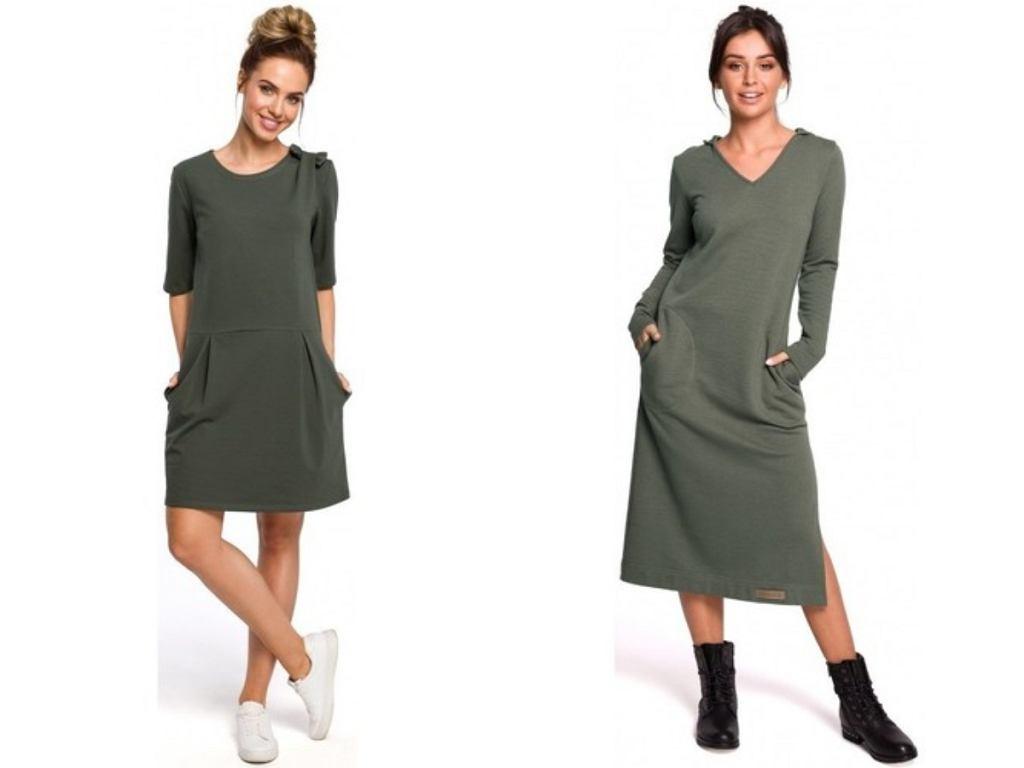 zielone sukienki na co dzień