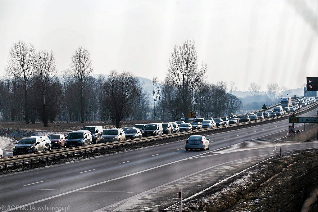 Autostrada A4. Utrudnienia w ruchu.